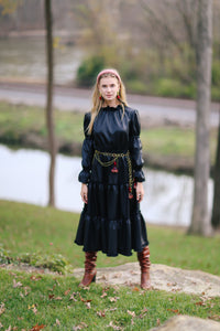 Alden Dress in Pleather