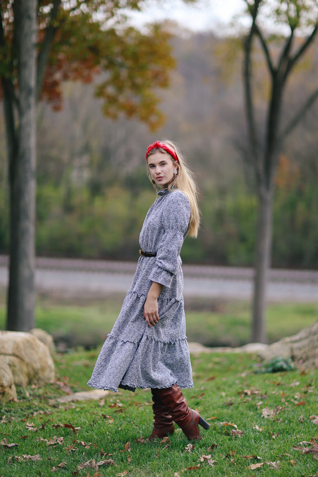 Alden Dress in Stretchy Tweed