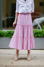 Load image into Gallery viewer, Alden Skirt in Crinkled Stripe Pink