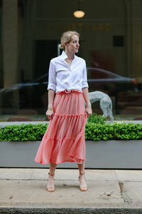 Alden Skirt in Picnic Check Coral