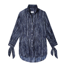 Load image into Gallery viewer, Bow Blouse in Drapey Disco Navy