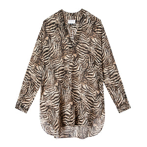Carolyn Top in Animal Print