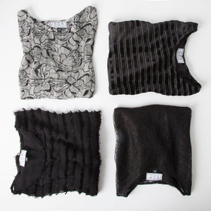 Chloe Crop Top in Sunwell Lace Black - CCH Collection
