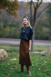 Emerson Fry Drawstring Skirt in Cheetah Spots