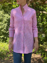 Load image into Gallery viewer, Preppy Shirt in Crinkled Stripe Pink