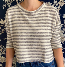 Load image into Gallery viewer, Clemmie Top in Carmel Stripe Knit