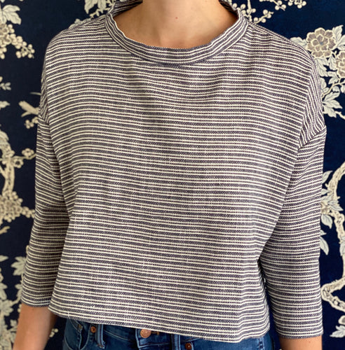 Clemmie Top in Striped Tweed