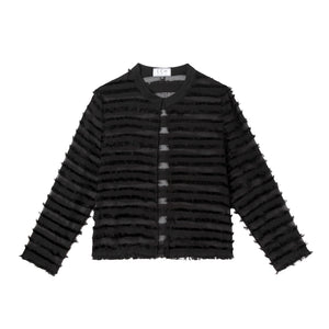 Kenan Jacket in Eyelash Stripe
