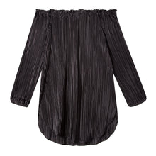 Load image into Gallery viewer, Ophelia Tunic in Drapey Disco Black - CCH Collection