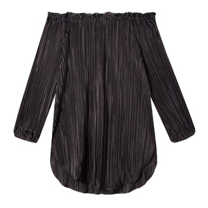 Ophelia Tunic in Drapey Disco Black - CCH Collection