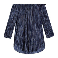 Load image into Gallery viewer, Ophelia Tunic in Drapey Disco Navy