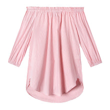 Load image into Gallery viewer, Ophelia Tunic in Oxford Stripe Pink/White