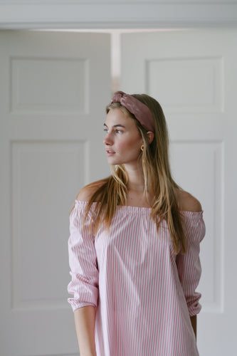 Ophelia Tunic in Oxford Stripe Pink/White - CCH Collection