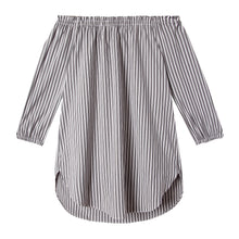 Load image into Gallery viewer, Ophelia Tunic in Spectator Stripe Gray/White - CCH Collection