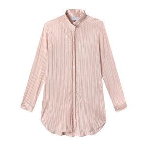 Preppy Shirt in Drapey Disco Blush