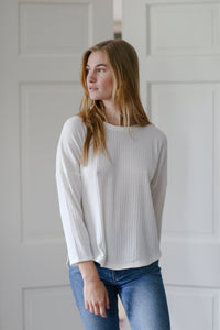 Richard Top in Summer Knit Ivory - CCH Collection