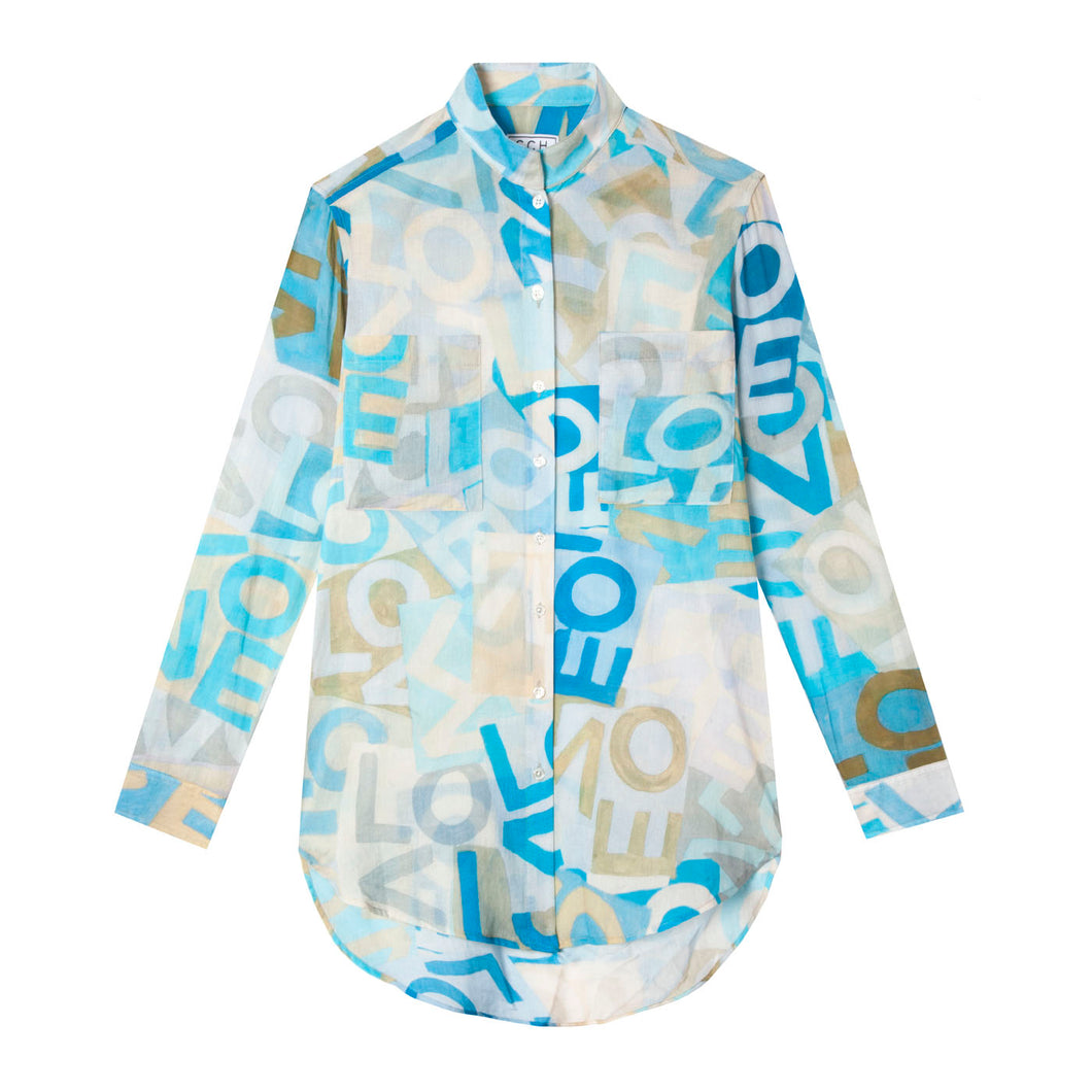 Stand Up Shirt in Layers of Love Blues CCHxLOVE
