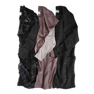 Vest with Sleeves in Velour Shag
