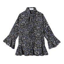 Load image into Gallery viewer, Watson Blouse in Cheetah Haze Blue