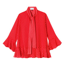 Load image into Gallery viewer, Watson Blouse in Swiss Dot Red
