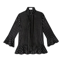 Load image into Gallery viewer, Watson Blouse in Velour Stripe