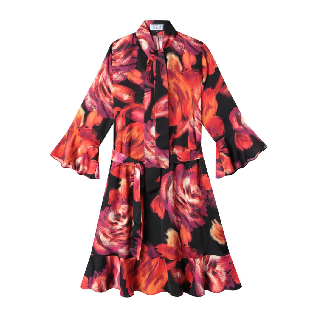 Watson Dress in Abstract Floral