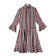 Load image into Gallery viewer, Watson Dress in Ribbon Stripe - CCH Collection