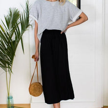 Load image into Gallery viewer, Emerson Fry Drawstring Skirt in Black