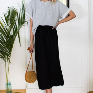 Emerson Fry Drawstring Skirt in Black