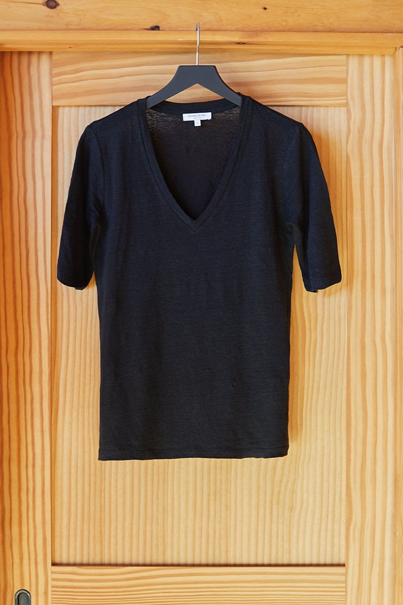 Emerson Fry Luxe Emerson T in Black Linen