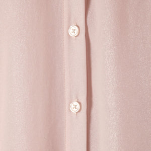 Stand Up Shirt in Sparkle Silk Blush - CCH Collection