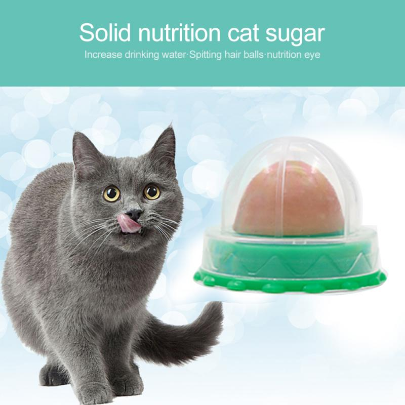 Healthy Cat Snacks Catnip Sugar Candy Licking Nutrition Gel Energy Ball Toy for Cats Kittens Increase Drinking Water Help
