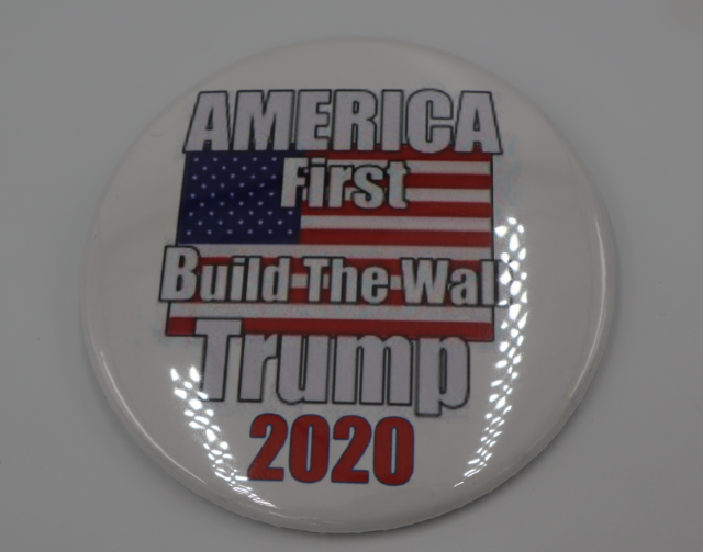 "America First Build the wall 3"" Button"