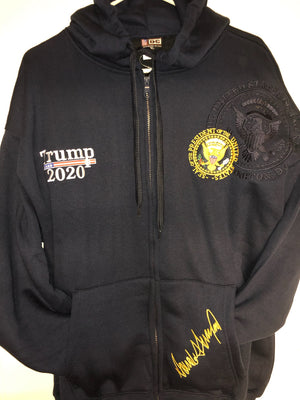 Black Premium trump 2020 Zip up hoodie