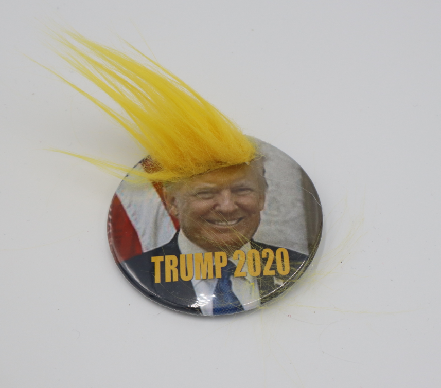 Hairy Trump Button 3 inch