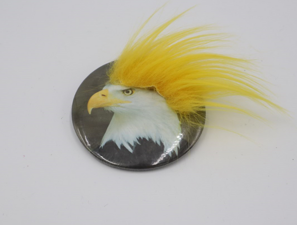 Hairy Bald Eagle Funny Button 3 inch