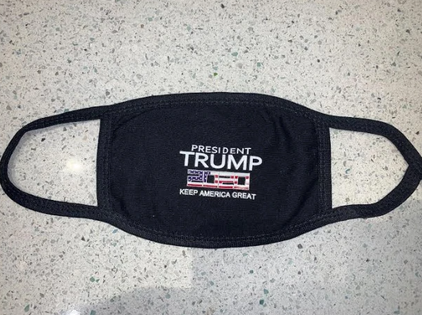 TRUMP 2020 Black Social Distancing Masks