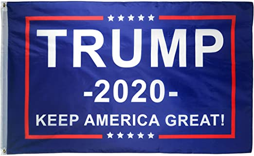 Trump 2020 Classic Blue Keep America Great Flag