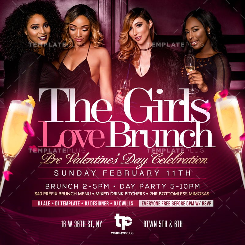 Valentine's Brunch Flyer