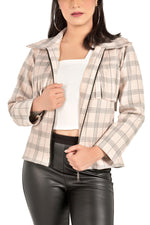 Party & Casual Front Zipper Suede Jacket - Eudora Cut