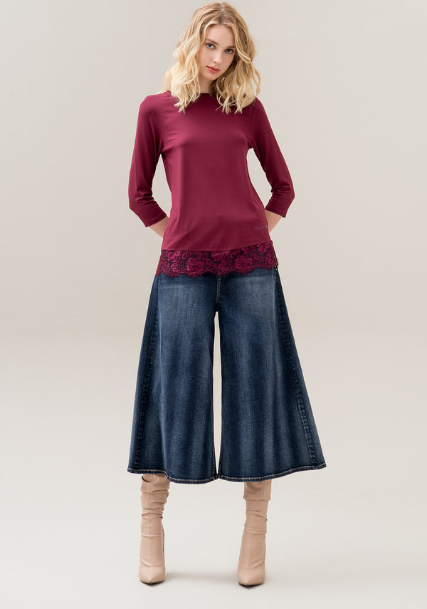 Knitwear wide fit with boat neckline