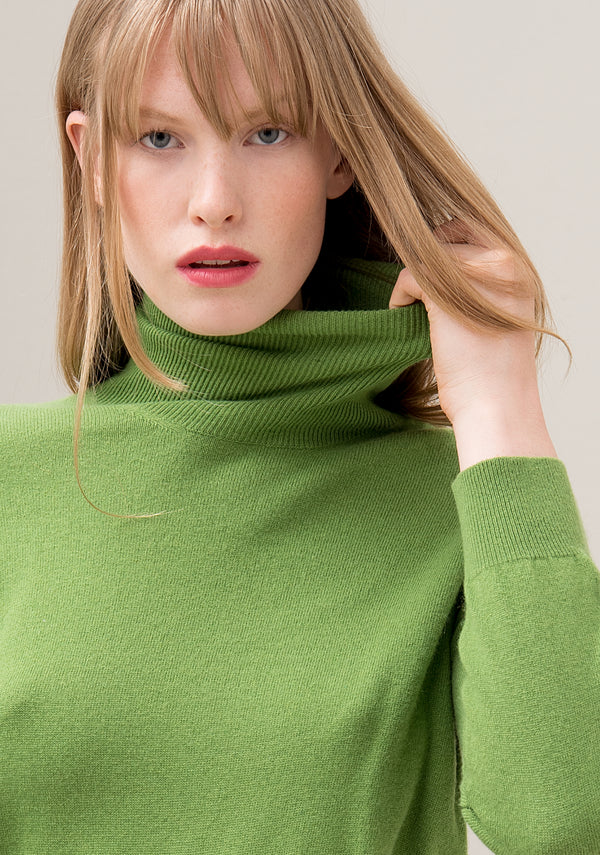 Knitwear regular fit with high neck