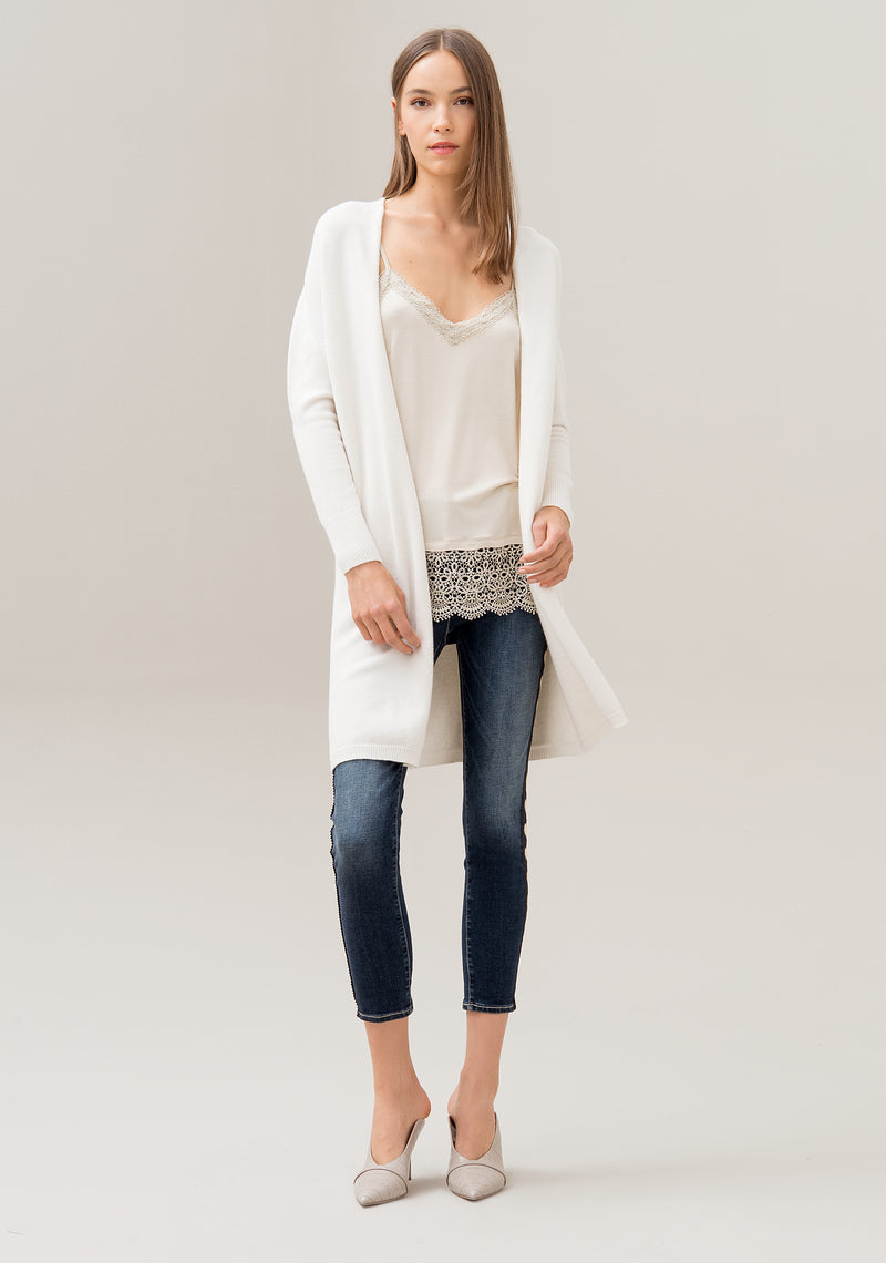 Cardigan wide fit, long, with long sleeves