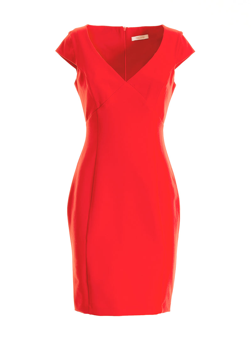 Sheath dress regular fit made stretch fabric