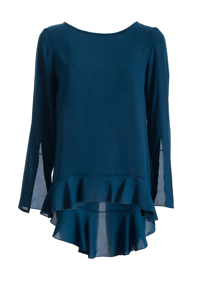 Top blouse wide fit made in light fabric