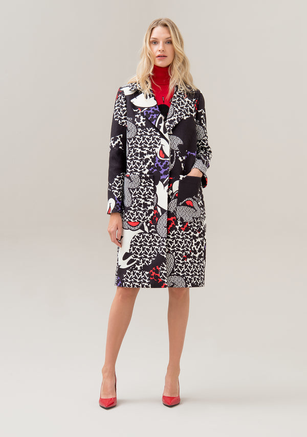 Coat regular fit, single breasted, with Disney's print