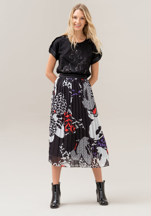 Skirt regular fit with plissè effect and  Disney's print
