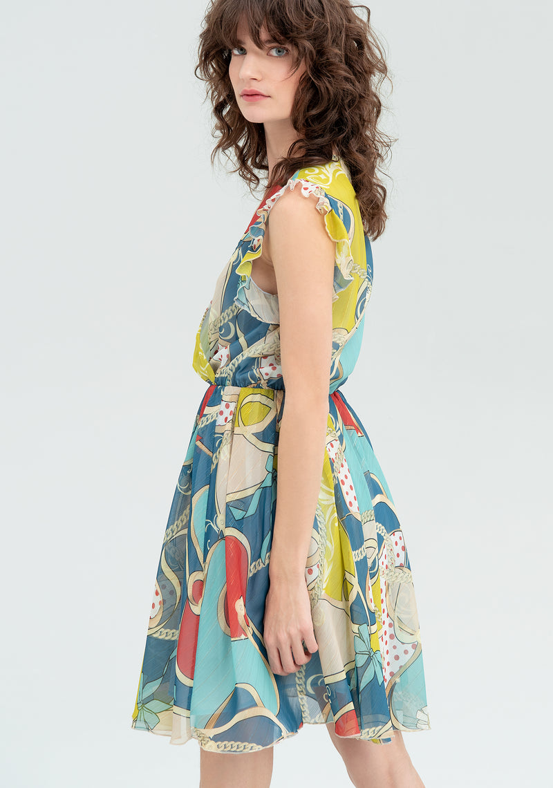 Patterned dress with curls-FRACOMINA-FR20SM562