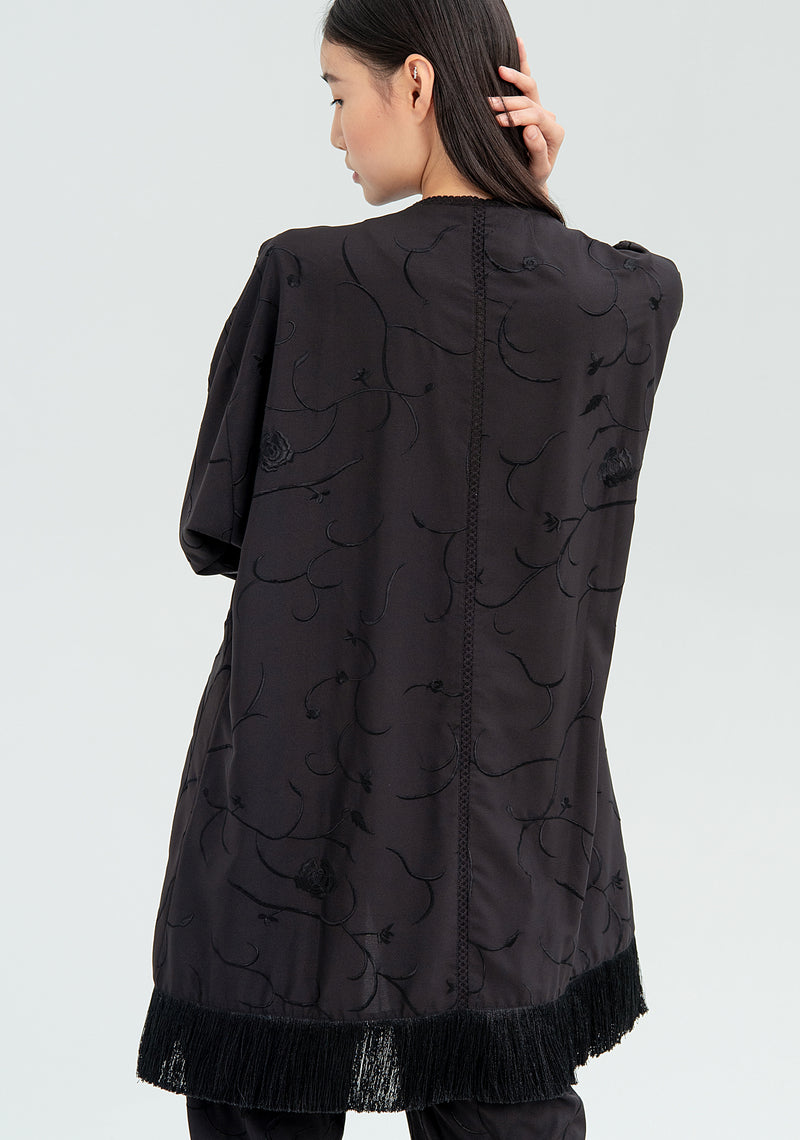 Kimono with fringes and embroideries-FRACOMINA-FR20SMGEMMA