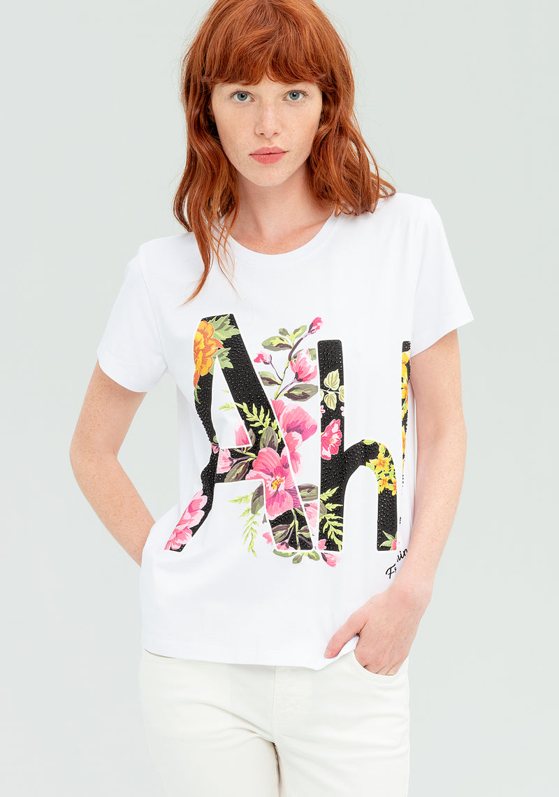 T-shirt with floral print-FRACOMINA-FR20SP368